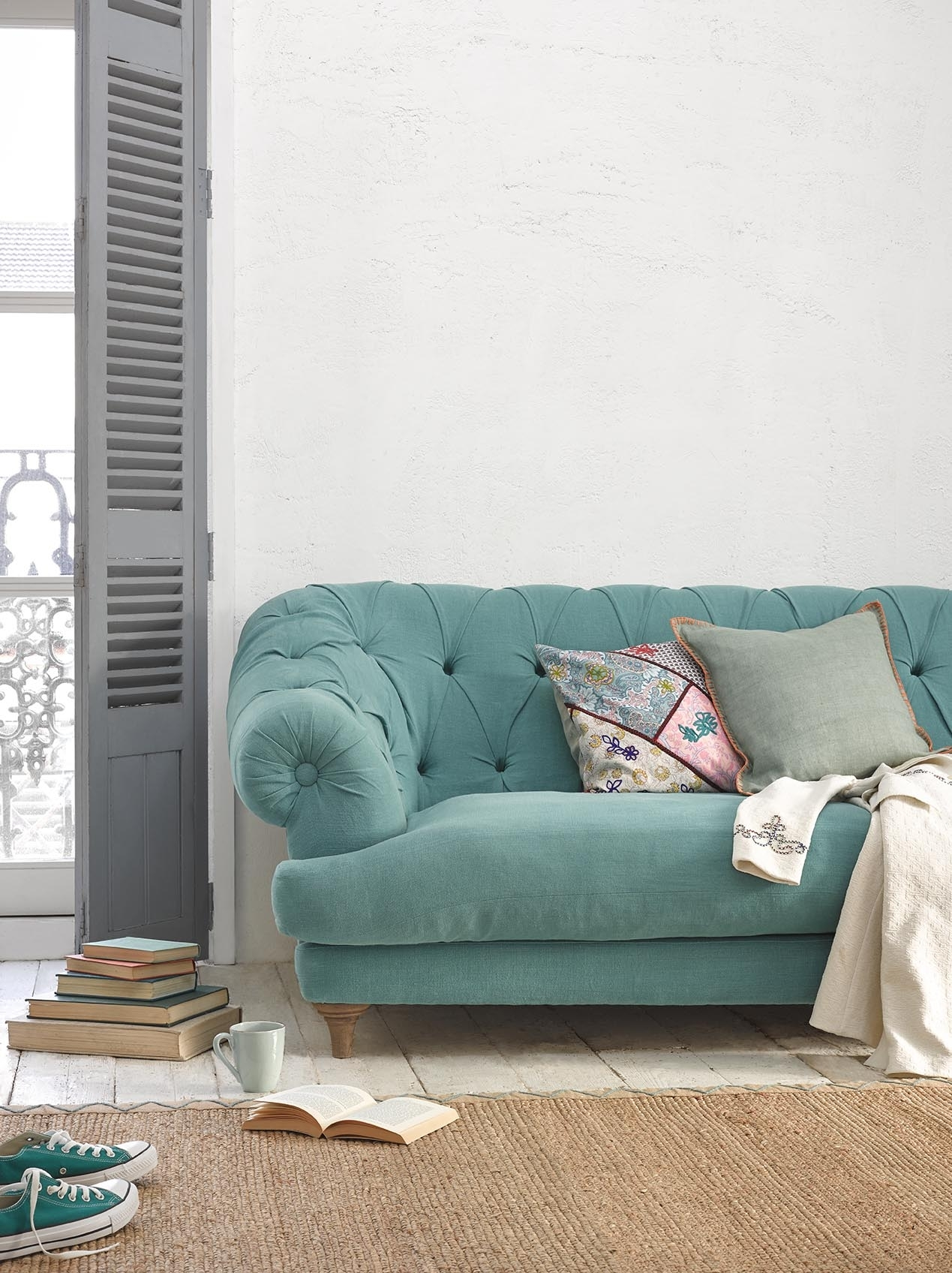 Bagsie Sofa | Chesterfield Style Sofa | Loaf Within Aqua Sofas (Image 4 of 10)