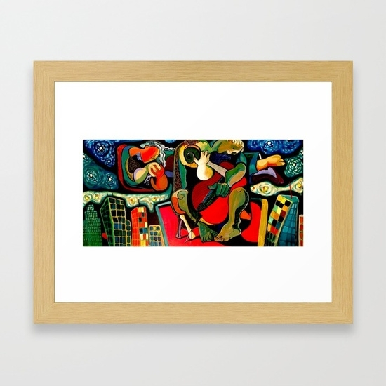 Bass Player Framed Art Printdavidrobinson | Society6 Regarding Bass Framed Art Prints (Image 10 of 15)