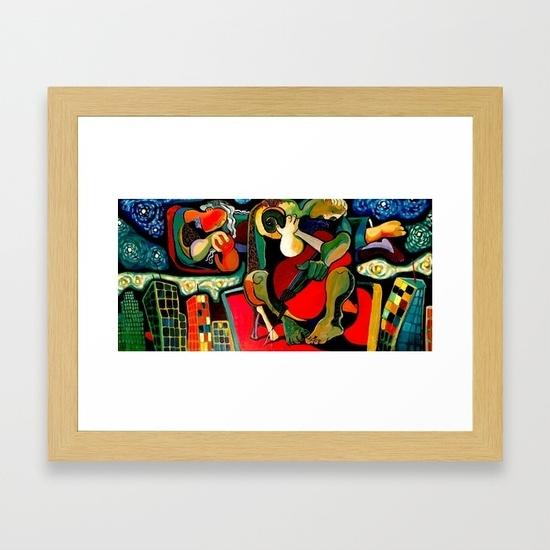 Bass Player Framed Art Printdavidrobinson | Society6 Regarding Bass Framed Art Prints (View 3 of 15)