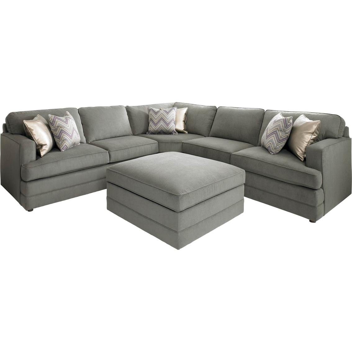 Bassett Dalton L Shaped Sectional Sofa With Ottoman | Making Our Intended For High Point Nc Sectional Sofas (Image 1 of 10)