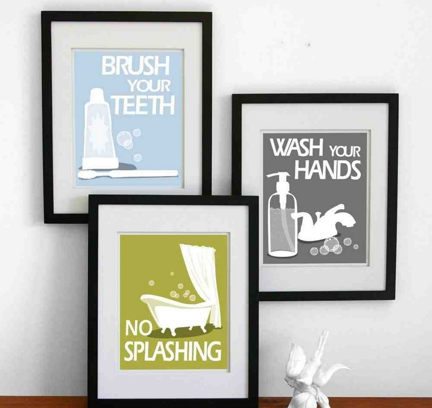 Bathroom Decor Artwork Small Artwork For Bathroom Framed Artwork In Framed Art Prints For Bathroom (View 10 of 15)