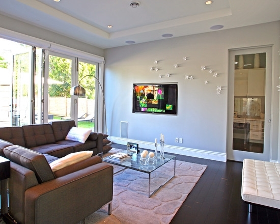 Bathroom Design: Contemporary Living Room Umbra Wall Accent Pertaining To Wall Accents For L Shaped Room (Image 1 of 15)