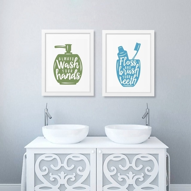 Bathroom Related Posters With Quote Canvas Printing Wash Your In Bathroom Canvas Wall Art (Image 6 of 15)