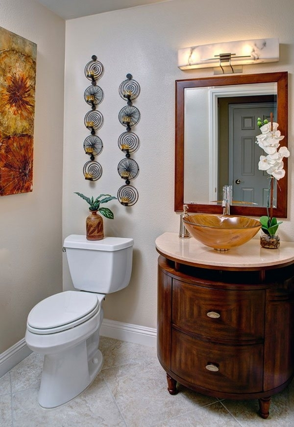 Bathroom Wall Decor Ideas Amazing Bathroom Wall Decorations Inside Wall Accents For Bathroom (View 13 of 15)