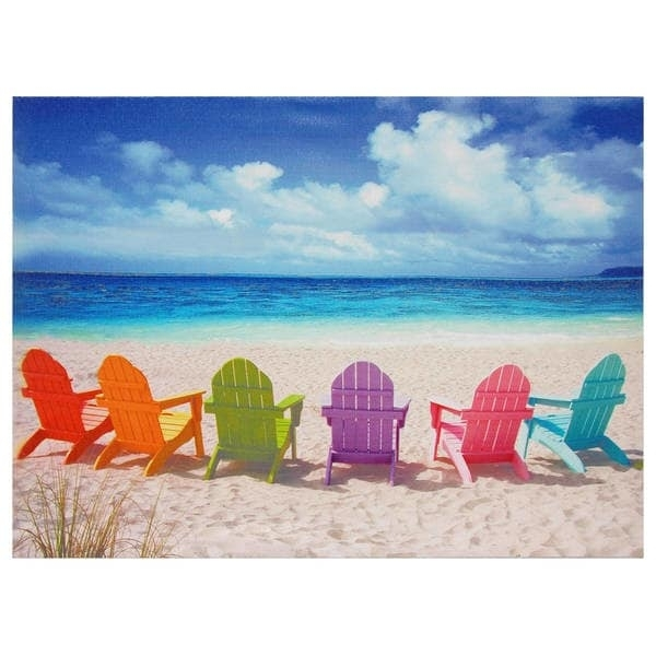 Beach Chairs Canvas Wall Art – Free Shipping On Orders Over $45 Intended For Beach Canvas Wall Art (Image 4 of 15)