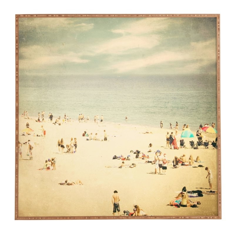 Beachcrest Home Vintage Beach Framed Photographic Print Plaque In Framed Beach Art Prints (View 10 of 15)