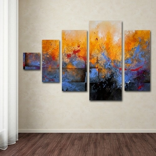 Featured Photo of Kohls 5 Piece Canvas Wall Art