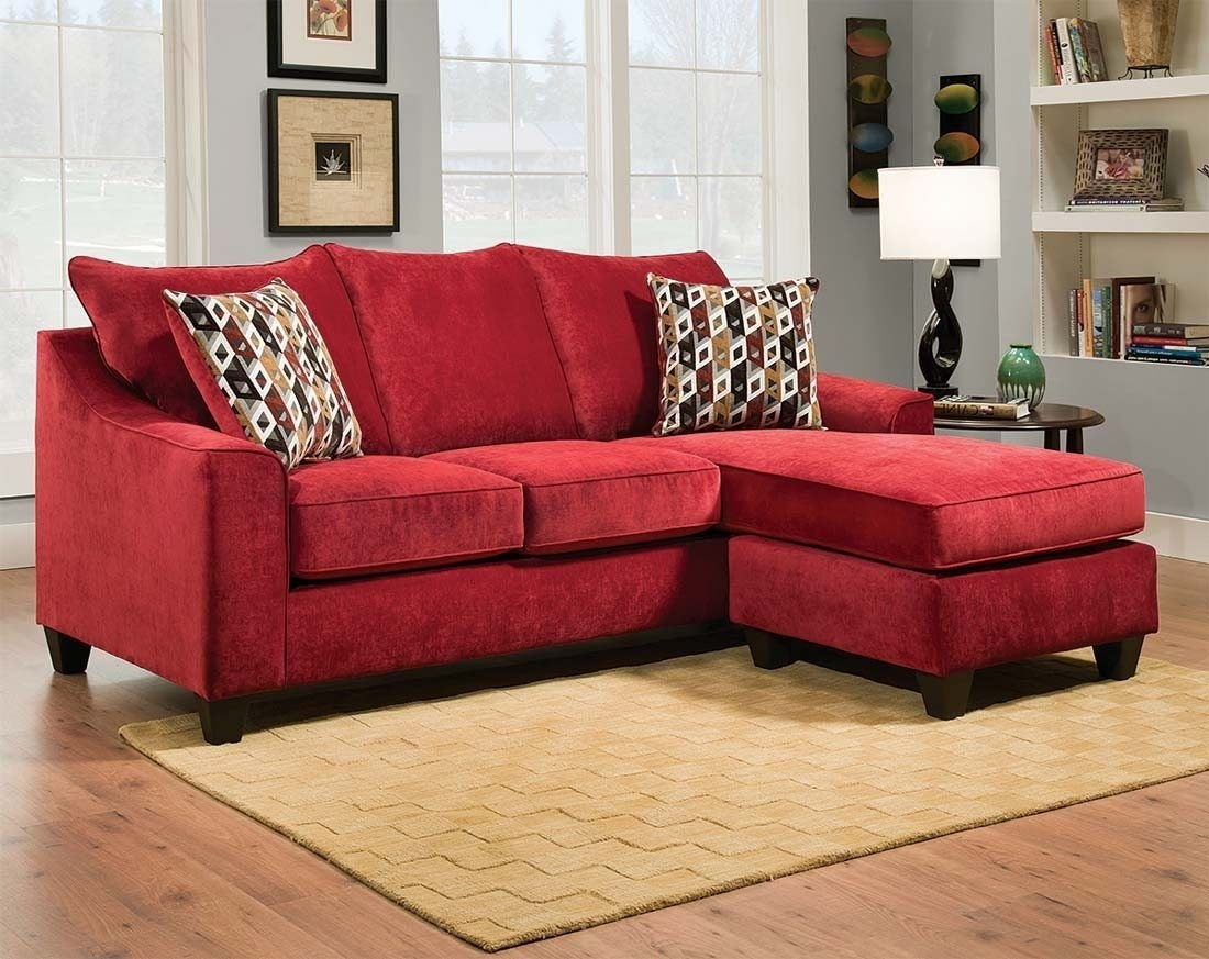 Beautiful Red Leather Sectional Sofa With Chaise Photos In Red Sectional Sofas With Ottoman (Image 3 of 10)