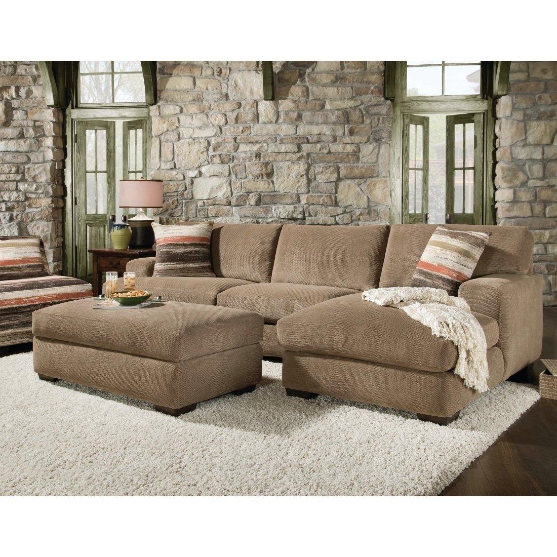 Beautiful Sectional Sofa With Chaise And Ottoman Pictures Pertaining To Sectional Sofas With Chaise Lounge And Ottoman (Image 2 of 10)