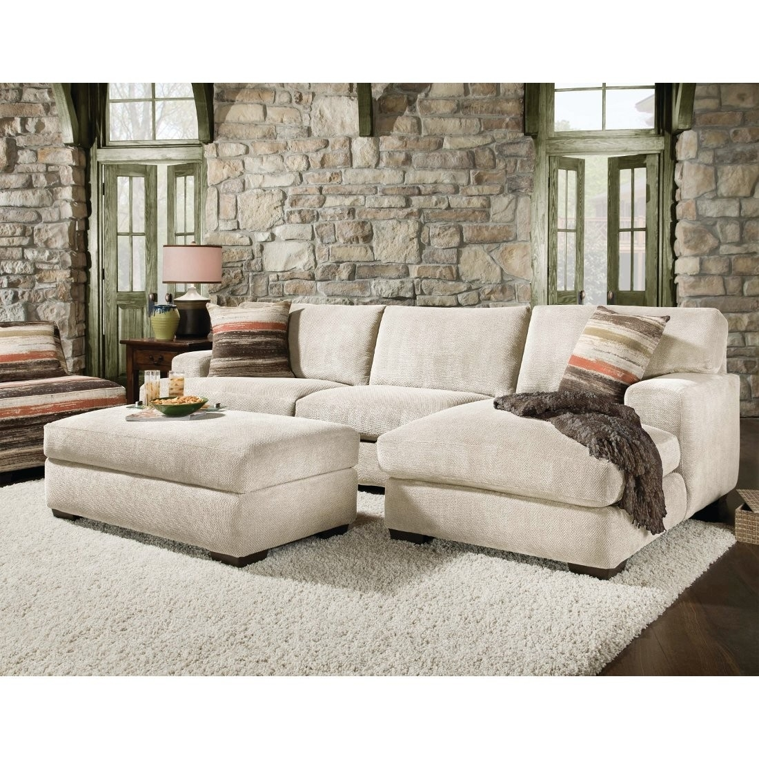 Beautiful Sectional Sofa With Chaise And Ottoman Pictures Throughout Small Sectional Sofas With Chaise And Ottoman (Image 2 of 10)