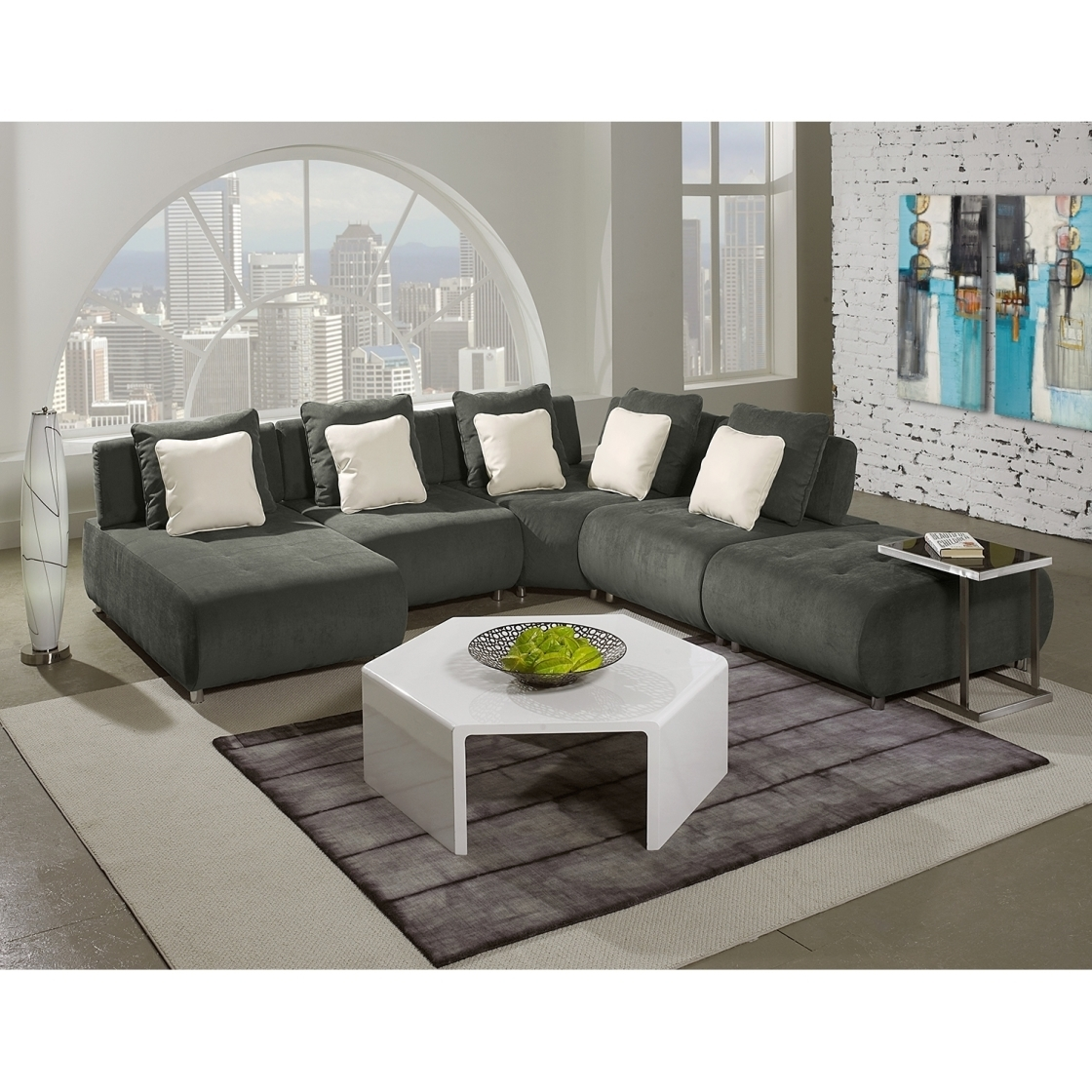 Beautiful Sleek Sectional Sofas 66 In Sectional Sofa For Small Space Within Sleek Sectional Sofas (Image 3 of 10)