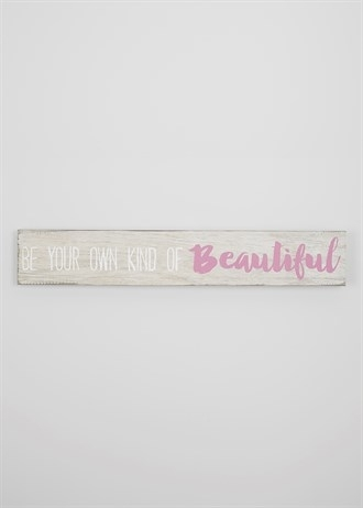 Beautiful' Text Canvas Print (90Cm X 15Cm) – Matalan | Decor With Matalan Canvas Wall Art (Image 6 of 15)