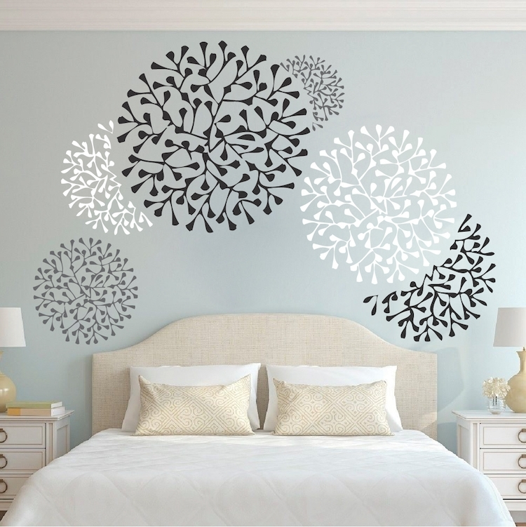 Beautiful Wall Accent Decals – Bedroom Wall Stencils – Removable Regarding Wall Accents Stickers (Image 5 of 15)
