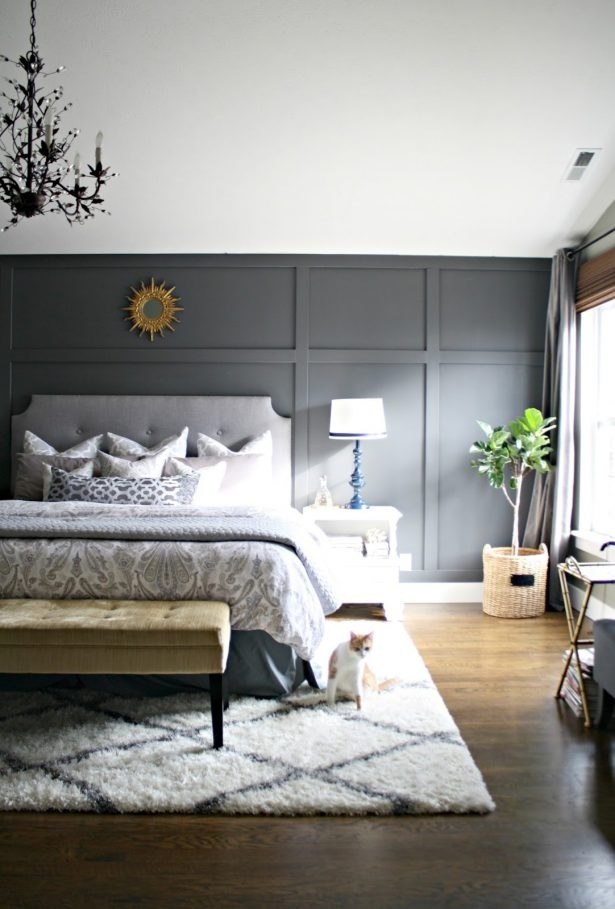Bedroom Design: Cheap Wood Accent Wall Accent Wall Color In Wallpaper Bedroom Wall Accents (Image 2 of 15)