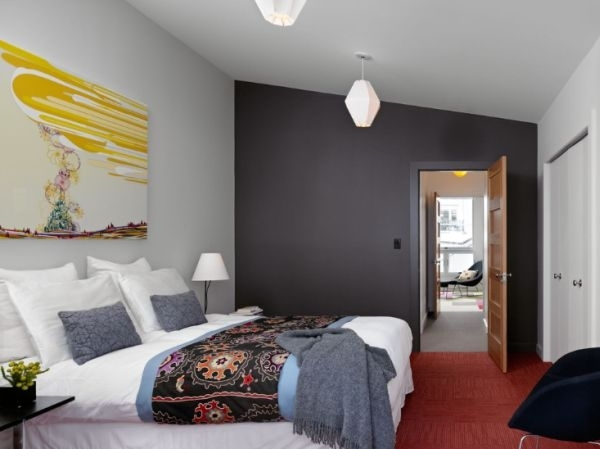 Bedroom : Grey Bedroom Bedrooms With Gray Walls Dark Brown For Gray Wall Accents (View 6 of 15)