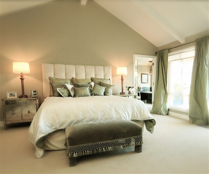 Bedroom : Pale Green Bedroom 28 Bedroom Design Sage Green Accent Inside Green Room Wall Accents (Image 5 of 15)
