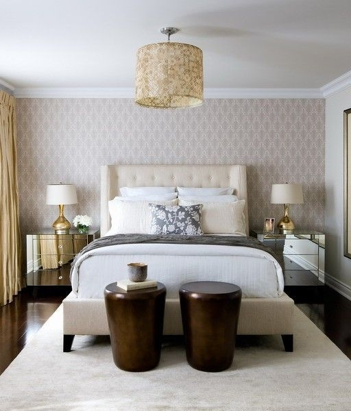 Bedroom With Wallpaper Accent Wall | Design Ideas 2017 2018 Inside Wallpaper Bedroom Wall Accents (Image 3 of 15)