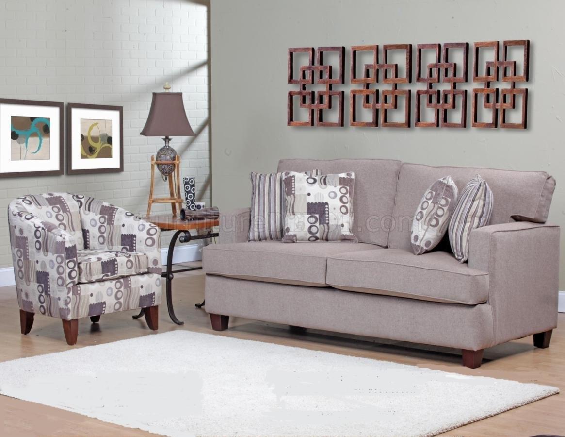 Beige Fabric Modern Sofa & Accent Chair Set W/options In Sofa And Accent Chair Sets (View 4 of 10)