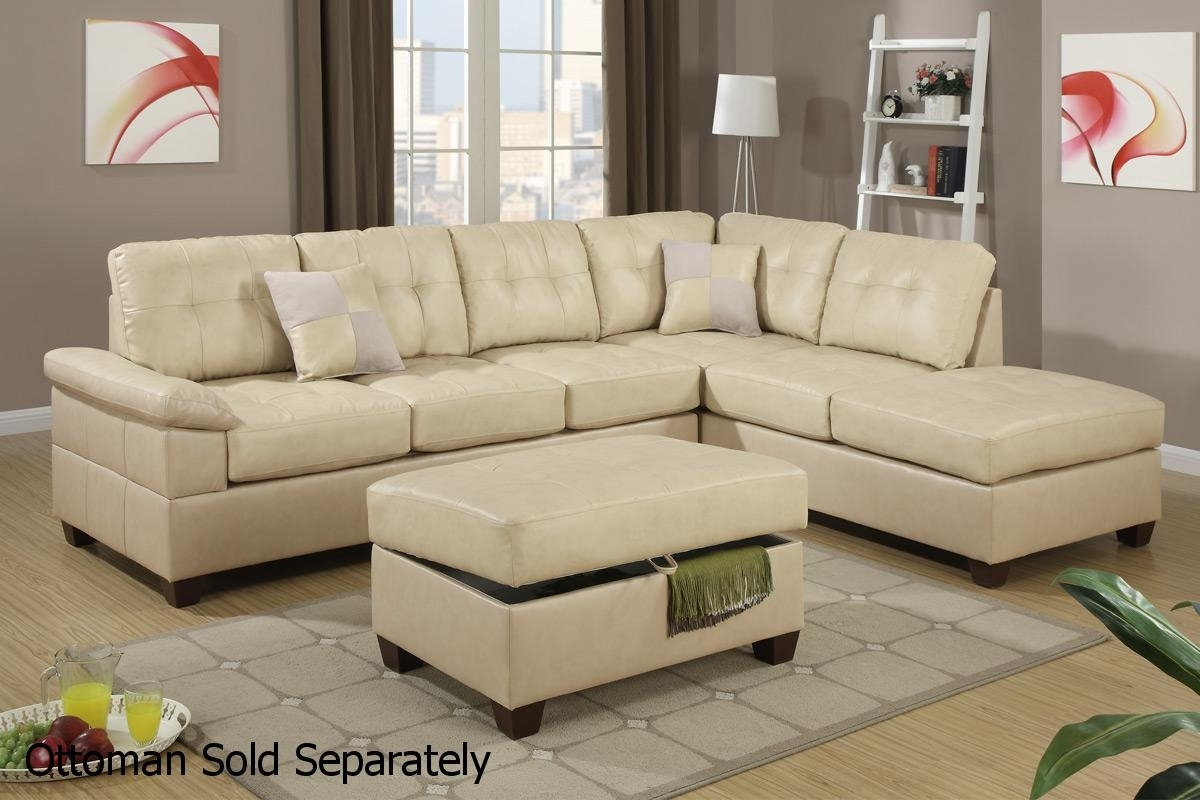 Beige Leather Sectional Sofa – Steal A Sofa Furniture Outlet Los Within Beige Sectional Sofas (Image 3 of 10)