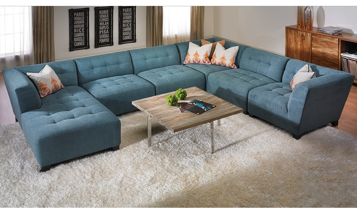 Belaire Tufted Contemporary Modular Sectional | Haynes Furniture With Regard To Virginia Sectional Sofas (View 4 of 10)