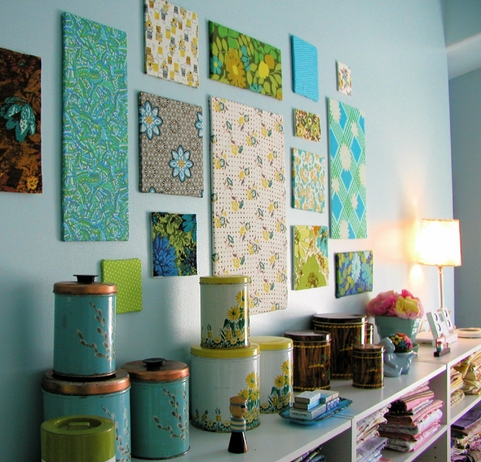 Bella Dia: Fabric Panels: How To In Diy Fabric Panel Wall Art (Image 4 of 15)