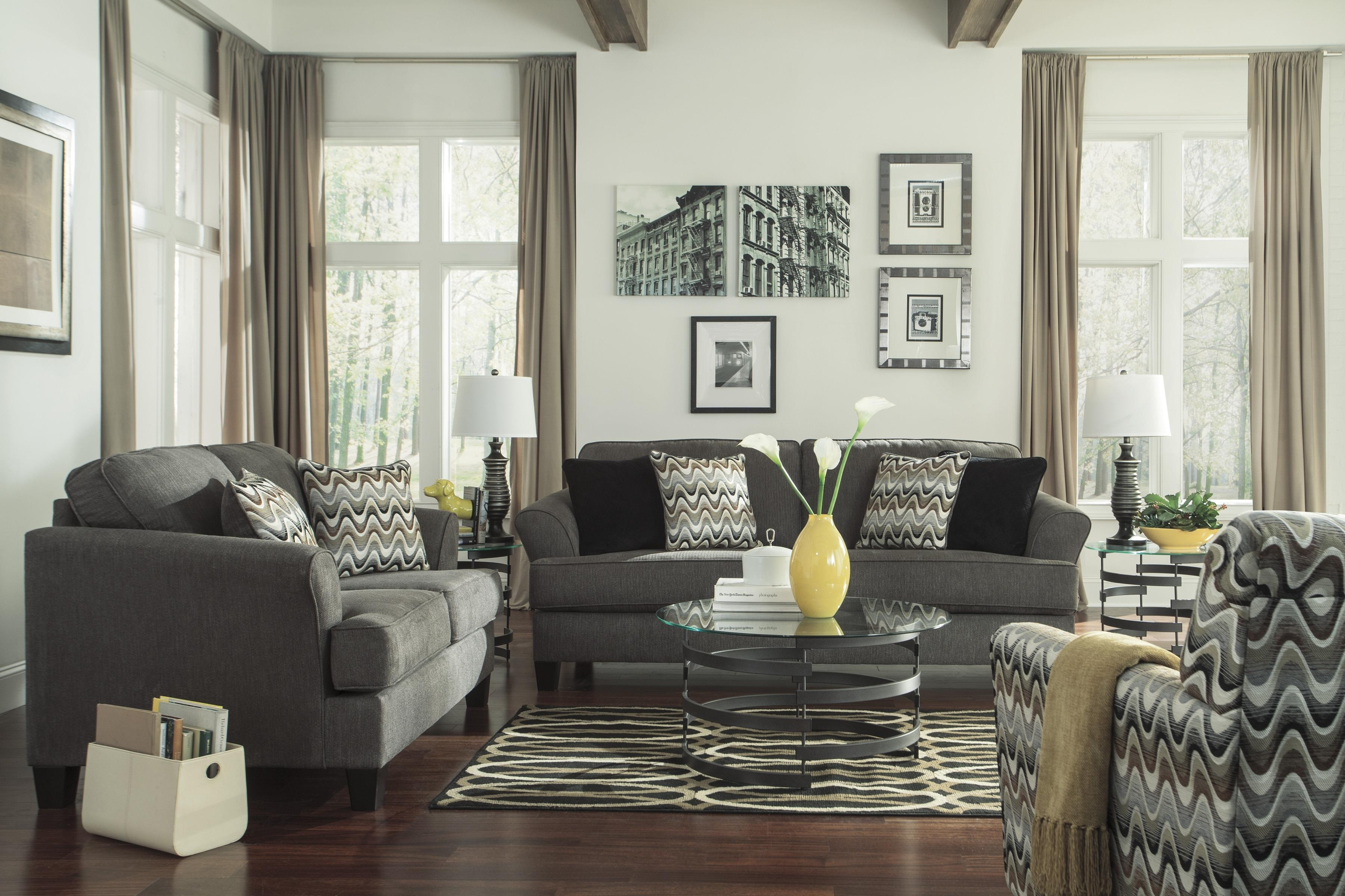 Benchcraft Gayler Contemporary Sofa | Wayside Furniture | Sofa In Sofa And Accent Chair Sets (Image 4 of 10)