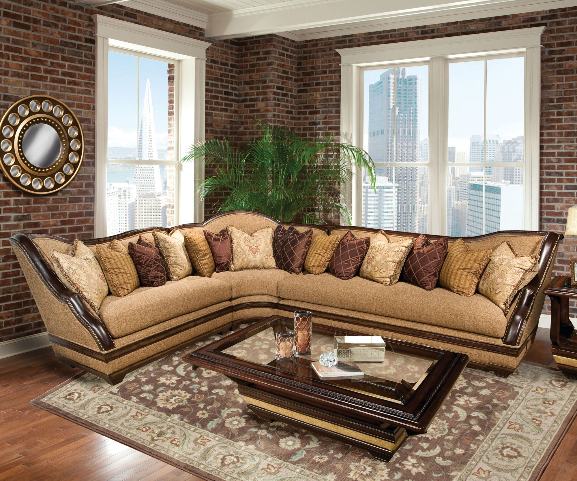 Benetti's Italia Beladonna Wood Trim Sectional Sofa Set The Throughout Luxury Sectional Sofas (View 3 of 10)