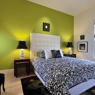 Benjamin Moor Dark Lime Green Wall Design, Pictures, Remodel Pertaining To Green Wall Accents (Image 5 of 15)