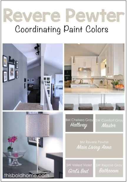 Benjamin Moore 'revere Pewter' And Coordinating Paint Colors Pertaining To Wall Accents For Revere Pewter (Image 2 of 15)