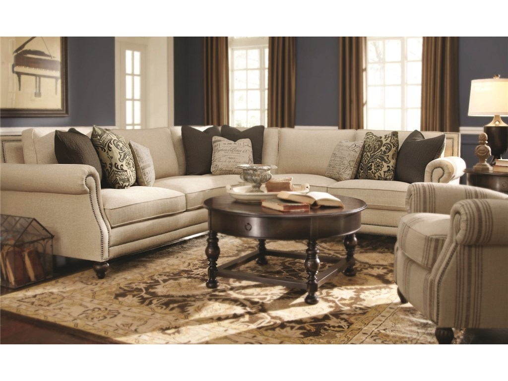 Bernhardt Living Room Brae Sectional 832270 – Furniture Fair In Dayton Ohio Sectional Sofas (Image 2 of 10)