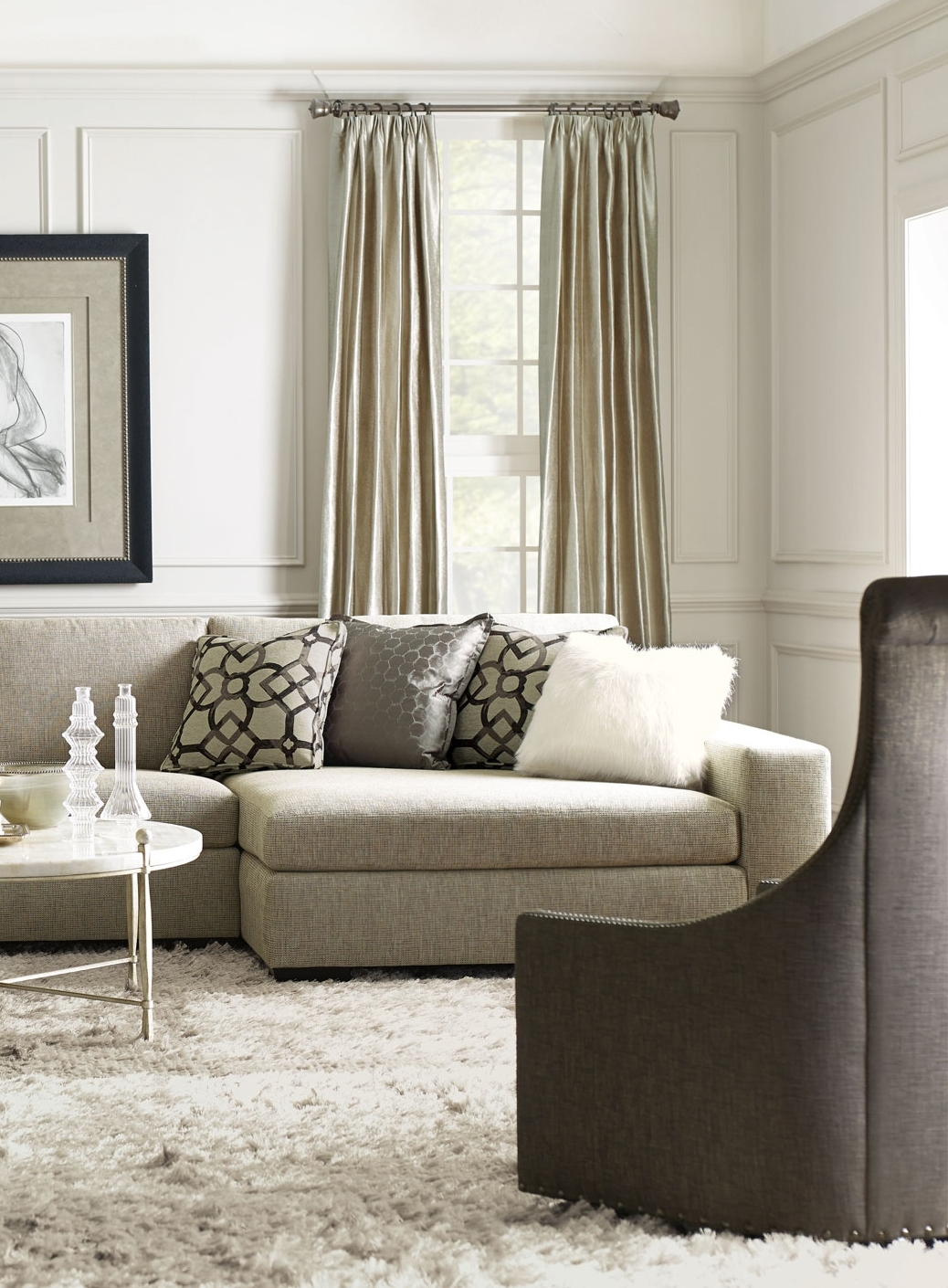 Bernhardt | Orlando Sectional Sofa, Maurice Swivel Chair, Clarion Intended For Orlando Sectional Sofas (Image 2 of 10)