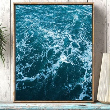 Best Abstract Ocean Art Products On Wanelo Inside Abstract Ocean Wall Art (Image 5 of 15)