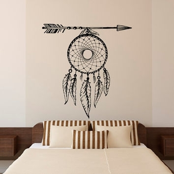 Best Arrow And Feather Wall Art Products On Wanelo Inside Dreamcatcher Fabric Wall Art (Image 3 of 15)