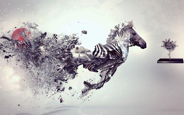 Best Cheap Modern Art Paintings Abstract Toy Horse Famous Artists Regarding Abstract Horse Wall Art (View 7 of 15)