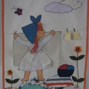 Best Girl Nursery Fabric Products On Wanelo Throughout Fabric Applique Wall Art (Image 6 of 15)