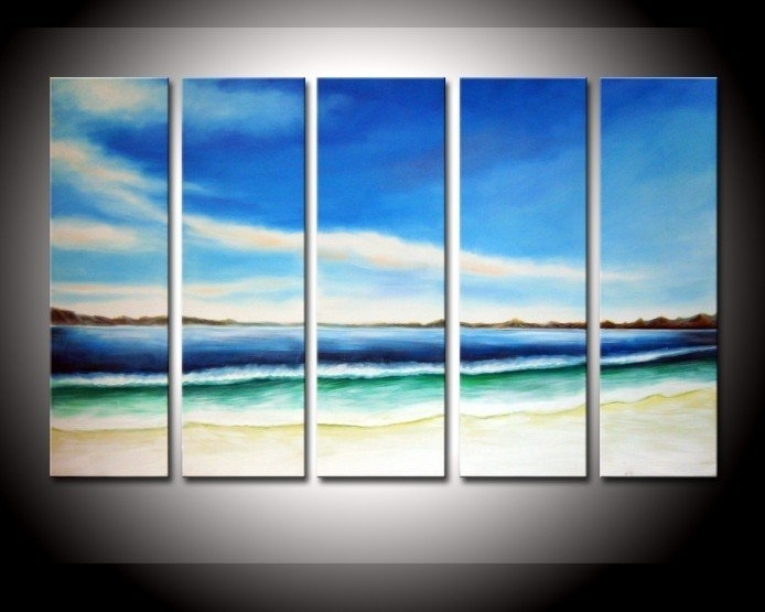 Best Hand Painted Oil Wall Art Color The Earth Decoration Abstract Within Abstract Landscape Wall Art (View 15 of 15)