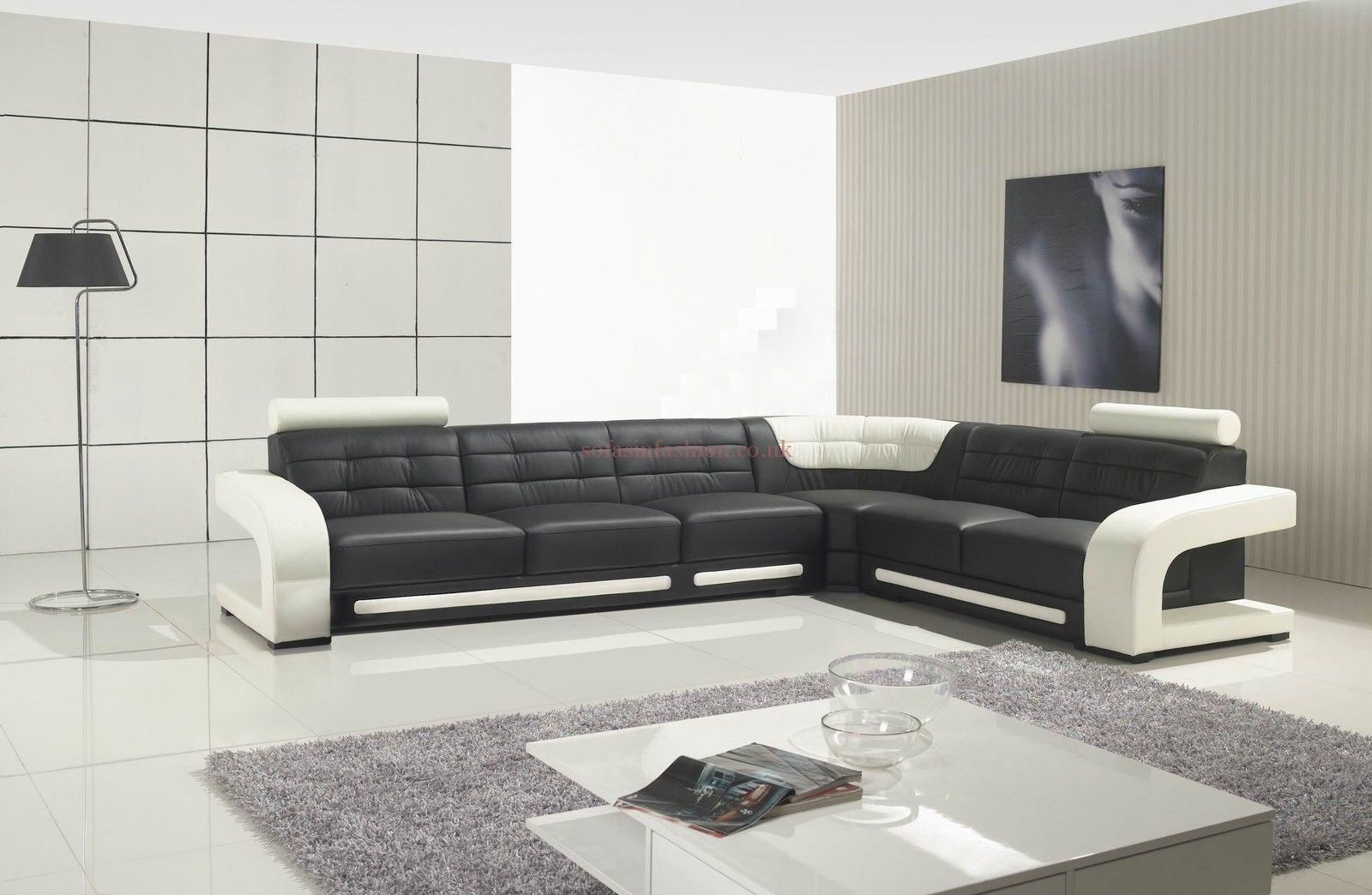 Best Leather Corner Sofas With Leather Corner Sofa Black White In White Leather Corner Sofas (Image 1 of 10)