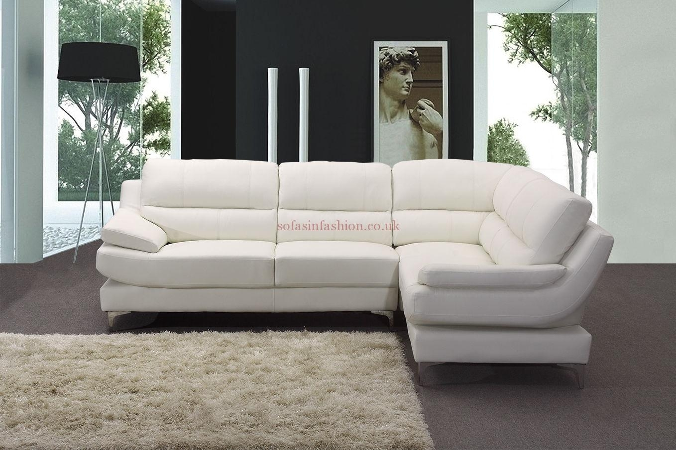 Featured Image of White Leather Corner Sofas