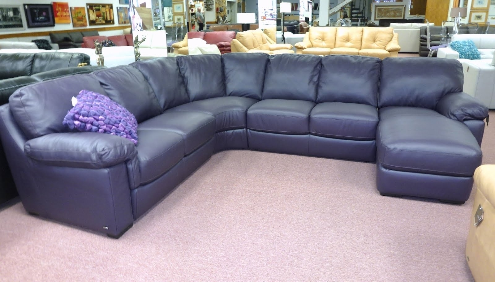 Best Navy Blue Leather Sectional Sofa 64 With Additional Jcpenney Throughout Jcpenney Sectional Sofas (View 5 of 10)
