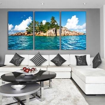 Best Ocean Canvas Wall Art Products On Wanelo Pertaining To Ocean Canvas Wall Art (Image 7 of 15)