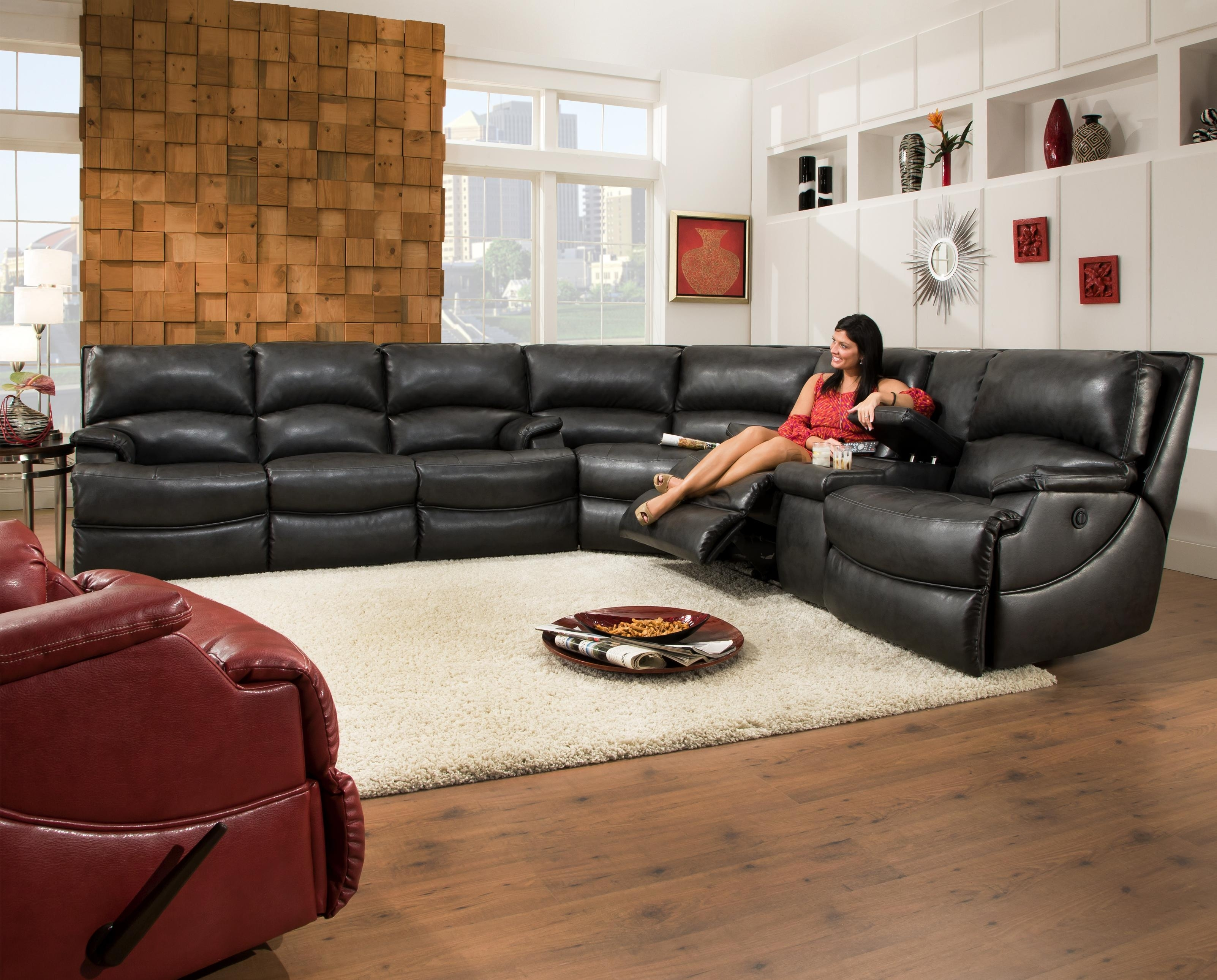 Best Sectional Recliner Sofa With Cup Holders 41 On Sectional Sofas with Sectional Sofas at Edmonton
