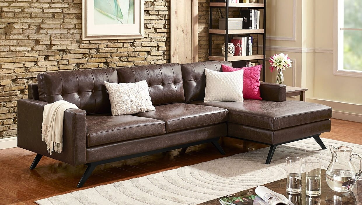 Best Sectional Sofas For Small Spaces – Overstock With Narrow Spaces Sectional Sofas (Image 2 of 10)