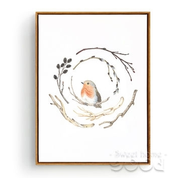 Best Vintage Framed Bird Prints Products On Wanelo Throughout Birds Framed Art Prints (View 14 of 15)