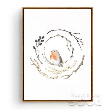 Best Vintage Framed Bird Prints Products On Wanelo Throughout Birds Framed Art Prints (Image 4 of 15)
