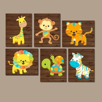 Best Zoo Baby Nursery Decor Products On Wanelo Intended For Safari Canvas Wall Art (View 6 of 15)