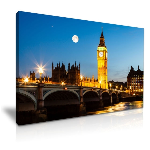 Big Ben House Of Parliament London Canvas Wall Art Picture Print For Canvas Wall Art Of London (Image 5 of 15)