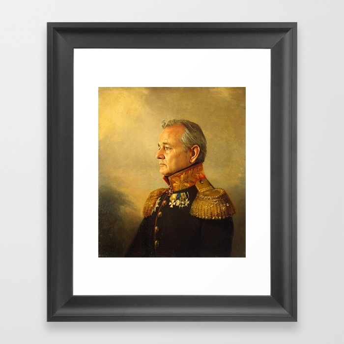 Bill Murray – Replaceface Framed Art Printreplaceface | Society6 Throughout Famous Art Framed Prints (View 6 of 15)