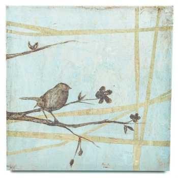 Bird On Branches Canvas Wall Decor | Hobby Lobby | 979757 For Birds Canvas Wall Art (Image 4 of 15)