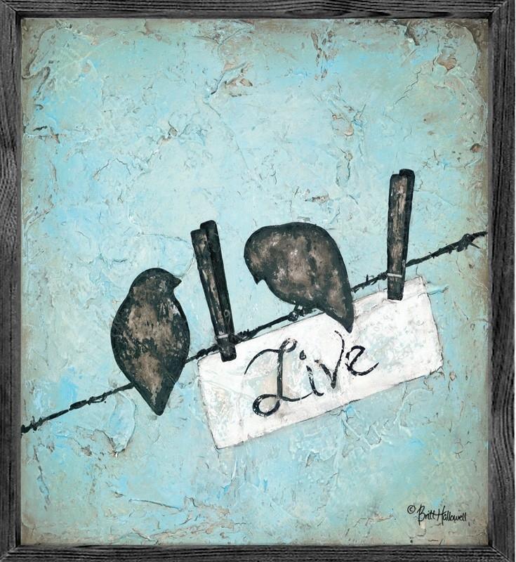 Birds Live Vintage Framed Art Print – Rosenberryrooms Inside Birds Framed Art Prints (Image 9 of 15)