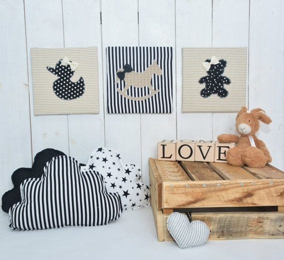 Featured Photo of Baby Fabric Wall Art